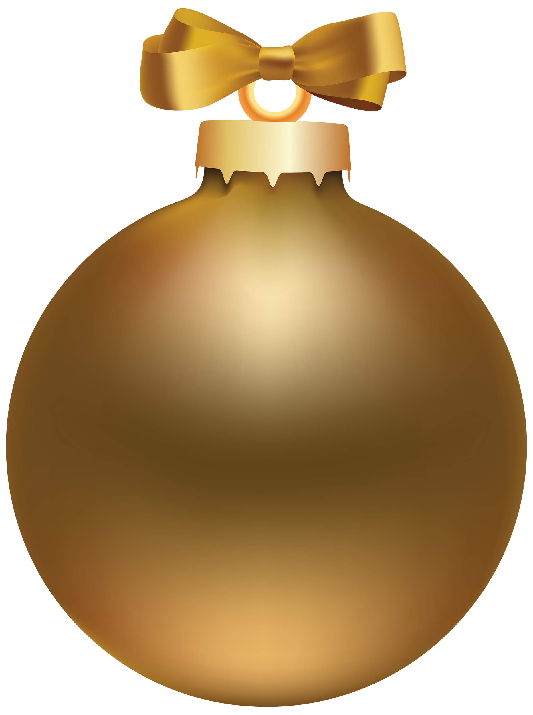 Golden style ball png. Clipart fruit christmas