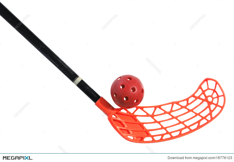 Old stick and stock. Ball clipart floorball