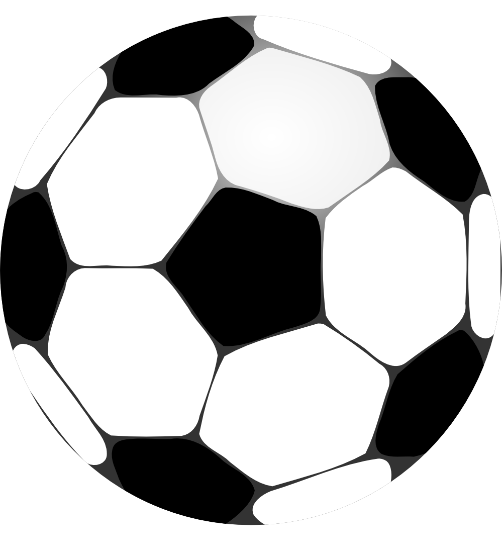 Ball clipart footy. Football black and white