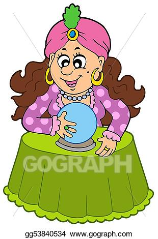 Stock illustration with crystal. Balls clipart fortune teller