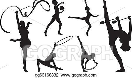 Vector stock rhythmic with. Ball clipart gymnastics