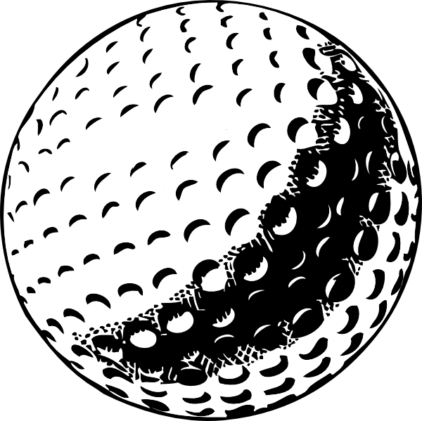 Golfer clipart pencil drawing. Golf ball clip art