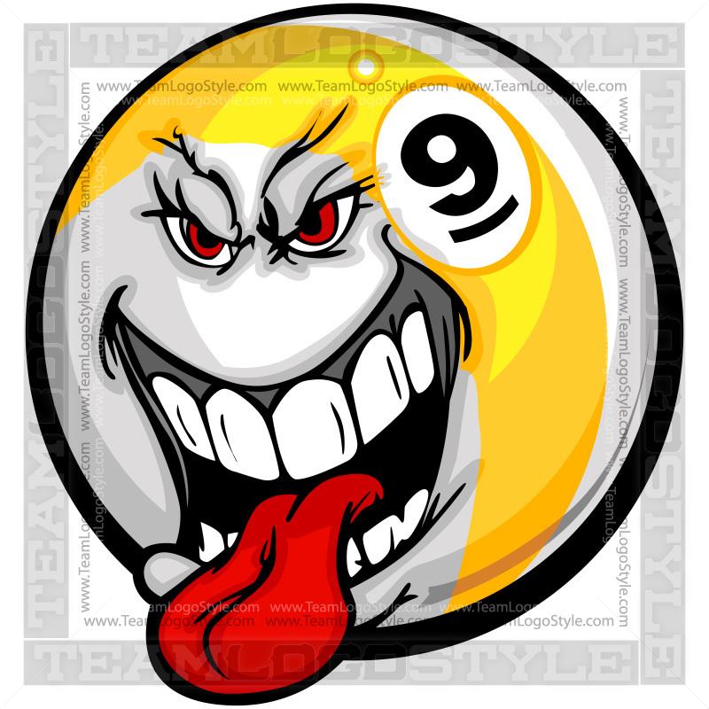 Nine vector . Ball clipart logo