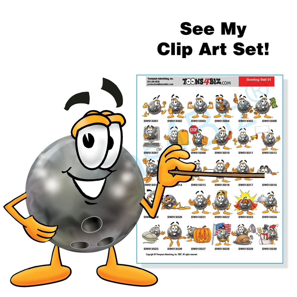 Bowling mascot clip art. Ball clipart logo
