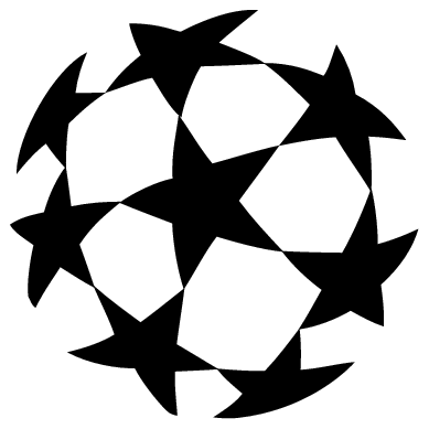 Ball clipart logo. Uefa champions league transparent