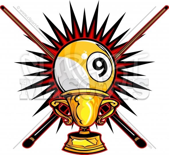 Billiards clipart 9 ball. Nine champion logo graphic