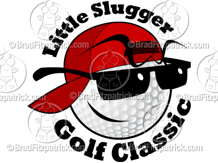 Ball clipart logo. Cartoon golf character royalty