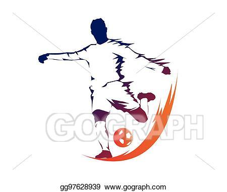 Eps vector modern soccer. Ball clipart logo