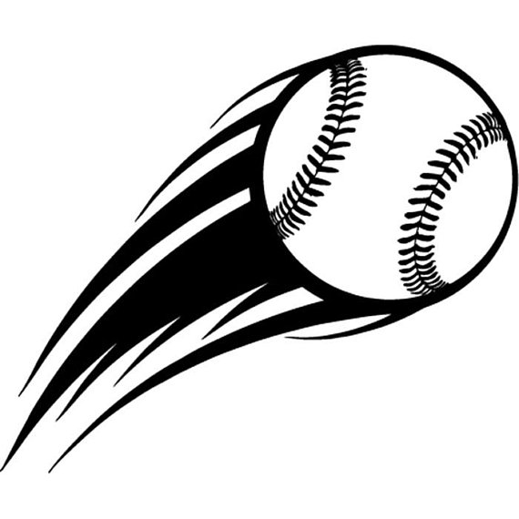 Ball clipart motion. Baseball logo action flying
