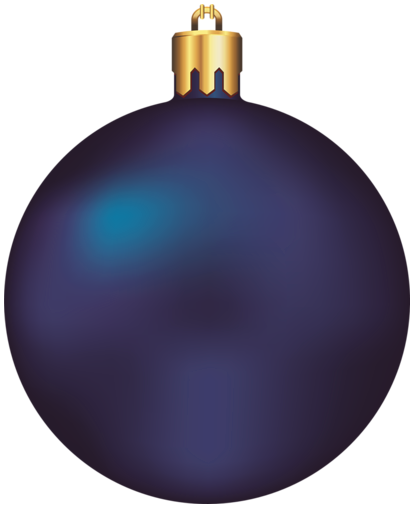 Transparent dark blue christmas. Ball clipart ornament