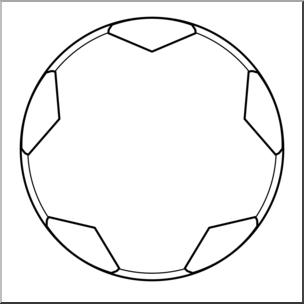 Ball clipart outline. Clip art soccer open