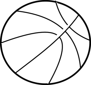 Basketball clip art at. Ball clipart outline