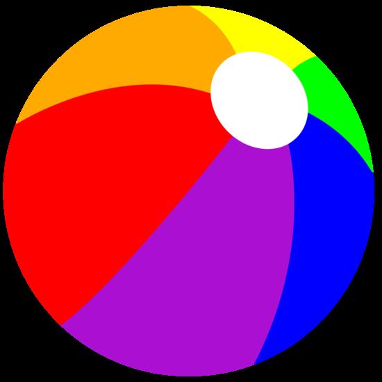 Rainbow summer beach ball. Beachball clipart cute