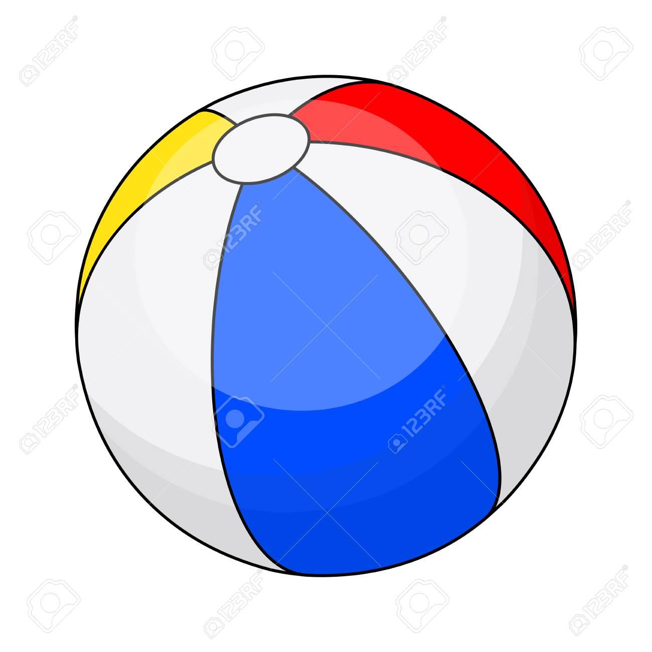 Beachball clipart sphere object. Beach ball rubber free