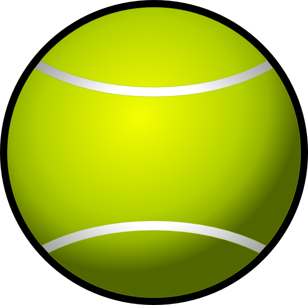 Ball clipart simple. Tennis clip art panda