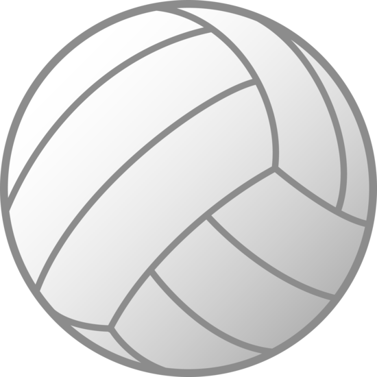 White volleyball free clip. Ball clipart simple