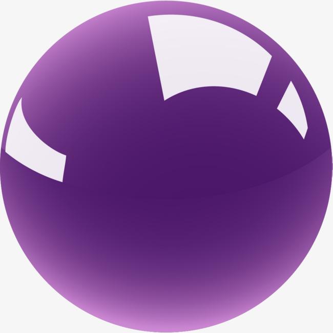 Hand drawn purple ball. Balls clipart simple
