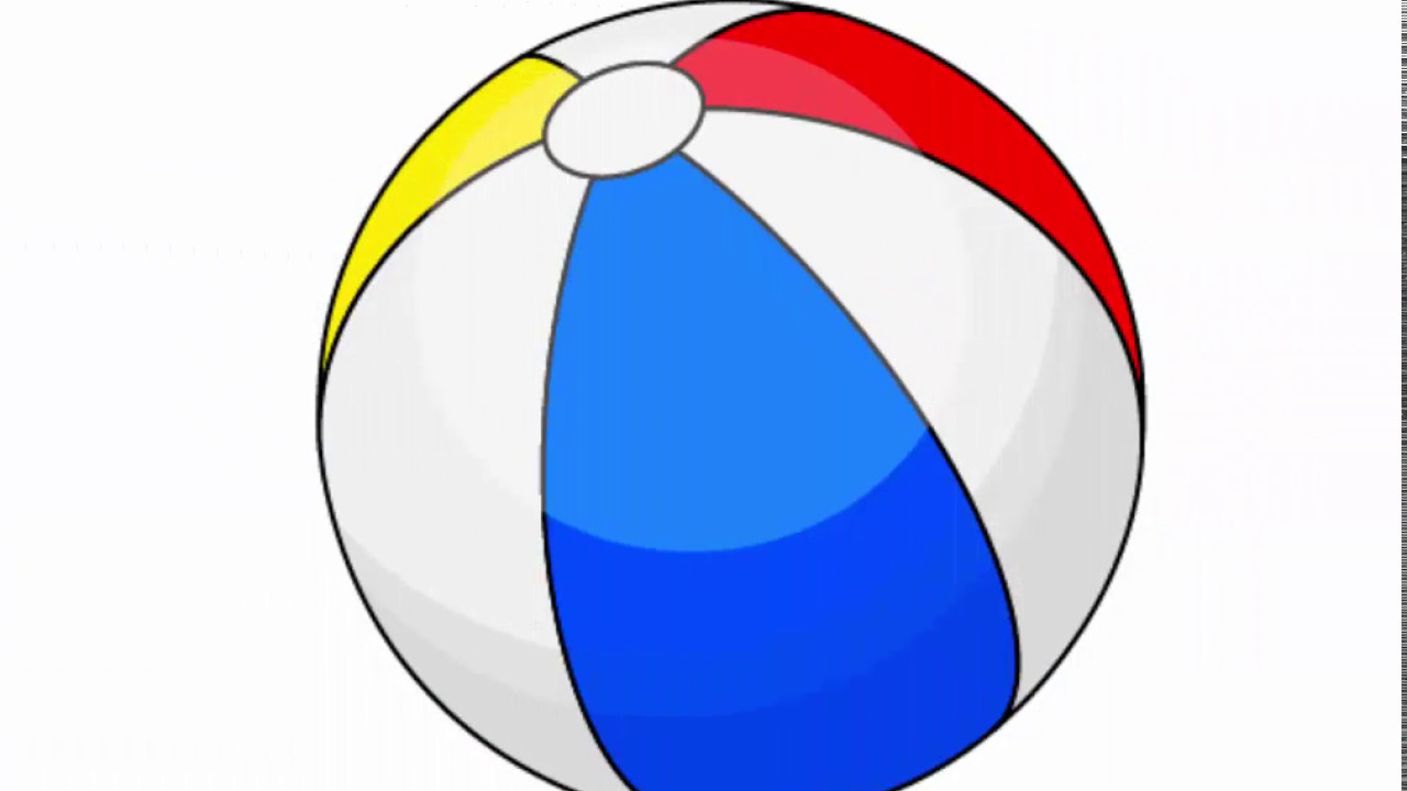 Beach ball drawing at. Beachball clipart equipment