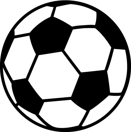 Clipart ball soccer. Free clip art download