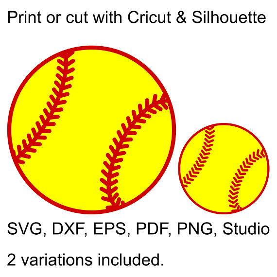 Ball svg file for. Balls clipart softball