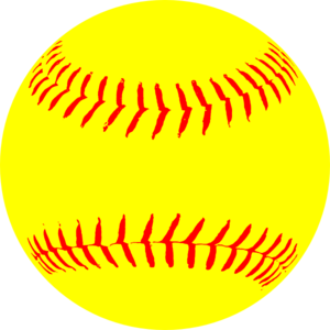 Yellow clip art at. Balls clipart softball