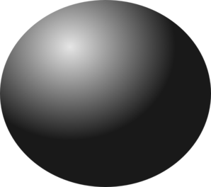 Black clip art at. Ball clipart sphere