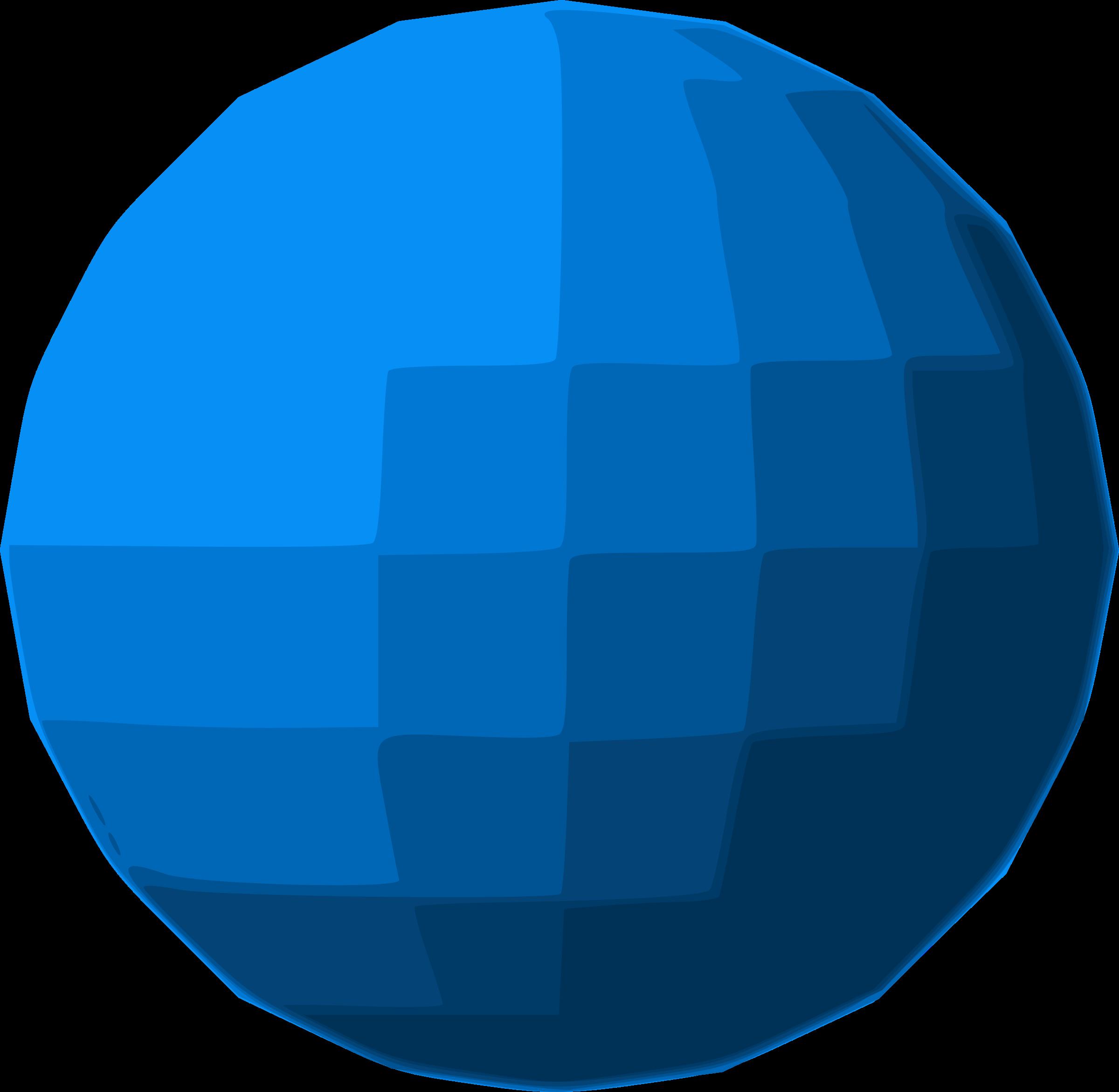 Ball clipart sphere. Blue disco big image
