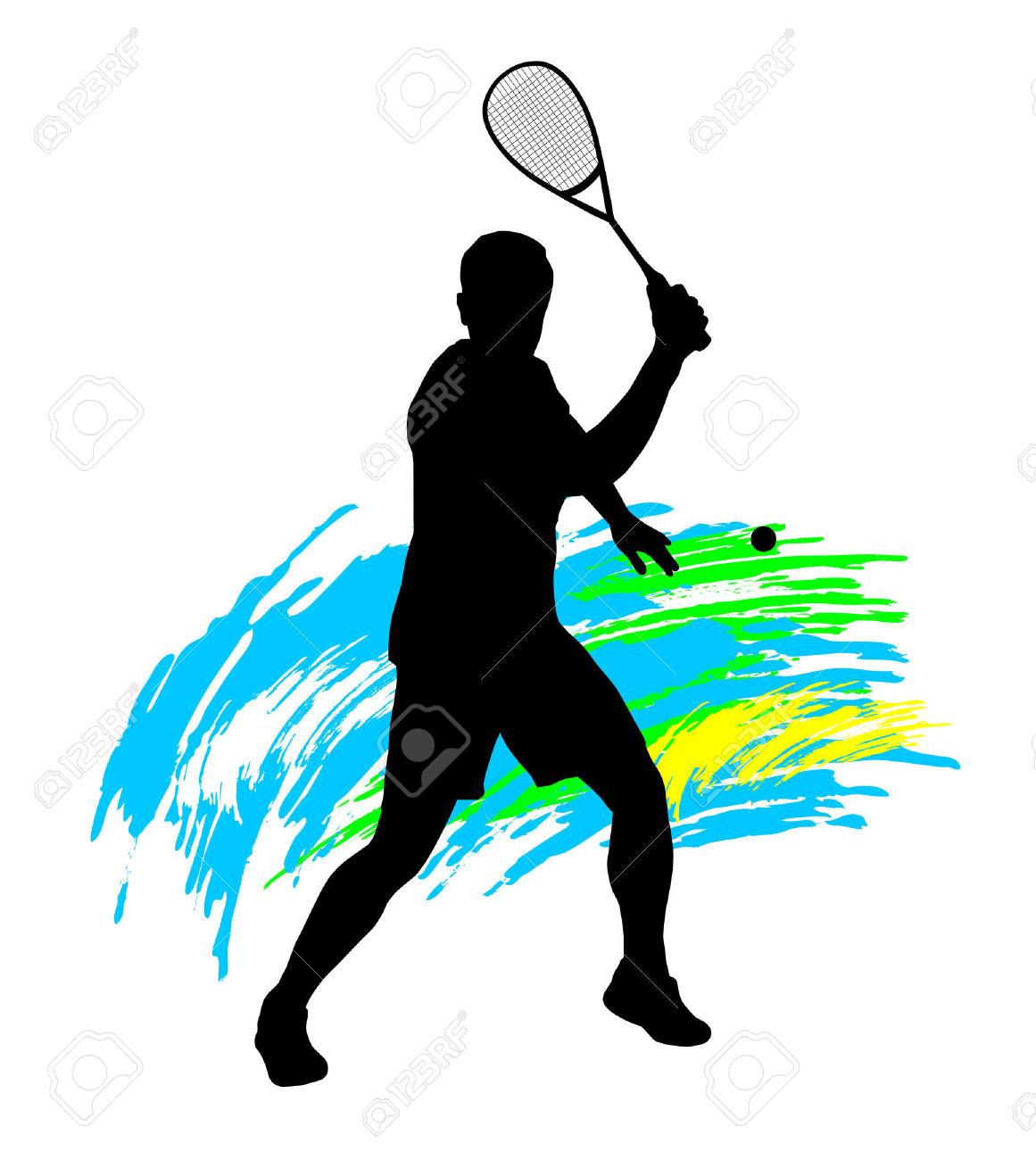 Clip art medium size. Ball clipart squash racket