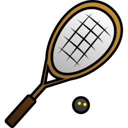 Rackets . Ball clipart squash racket