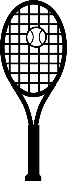 Ball clipart squash racket. Free vector download for
