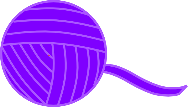 Purple of yarn clip. Ball clipart string