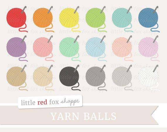 Ball clipart string. Yarn crochet clip art