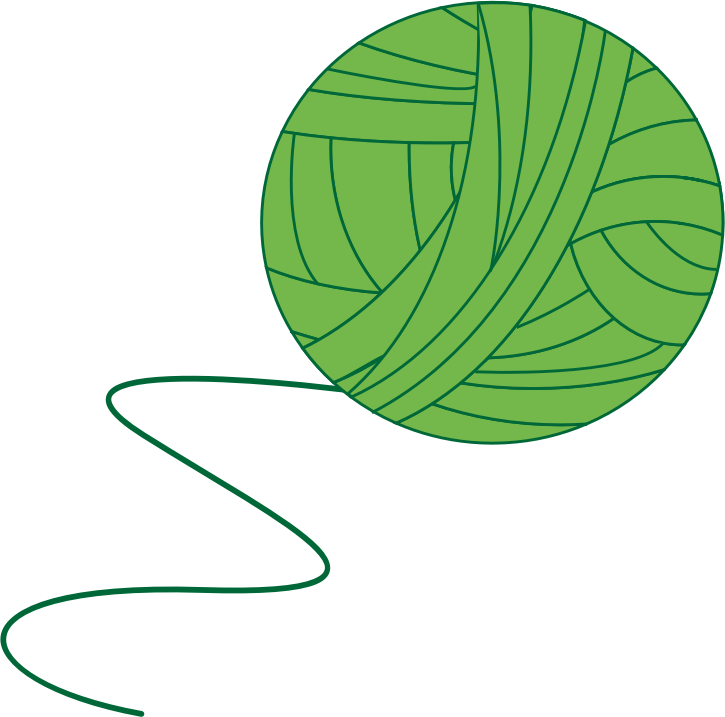 Ball clipart string. Green of yarn medium