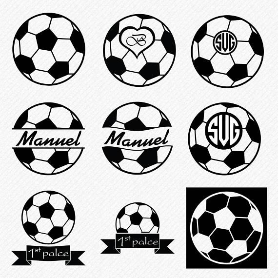 Soccer ball football svg. Balls clipart vector