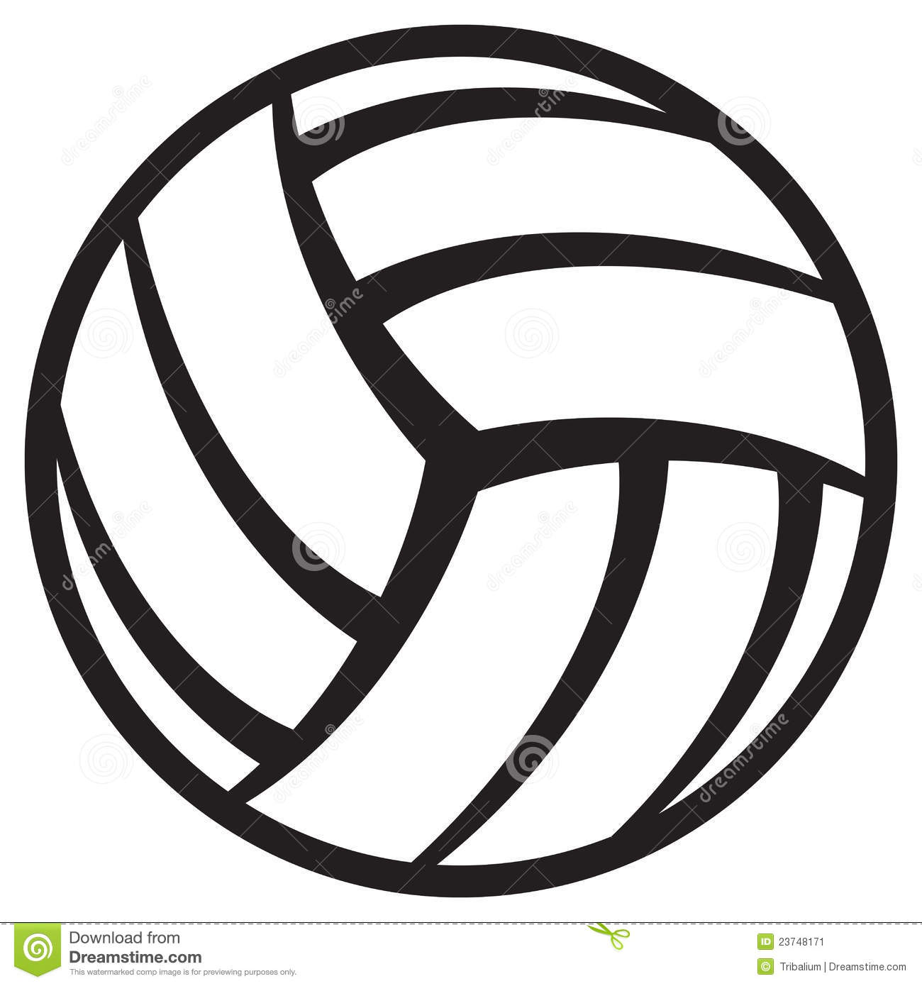 Vector . Volleyball clipart simple