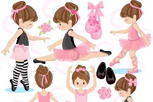 Ballerina clipart. Ballet amb illustrations creative