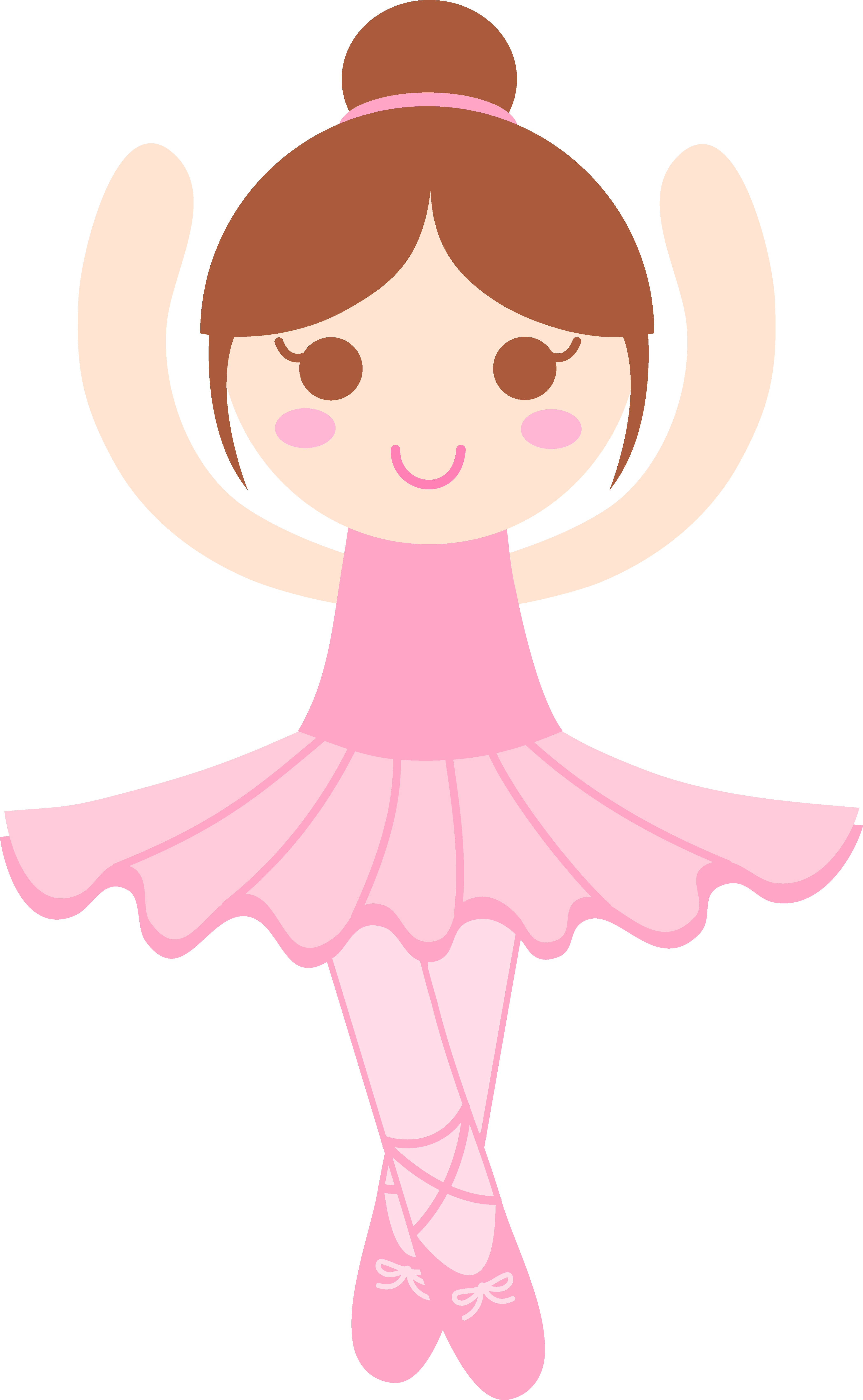 Little girl . Ballerina clipart
