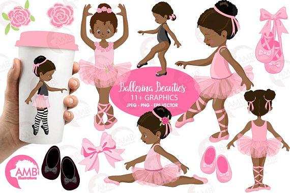 Ballet . Ballerina clipart african american ballerina
