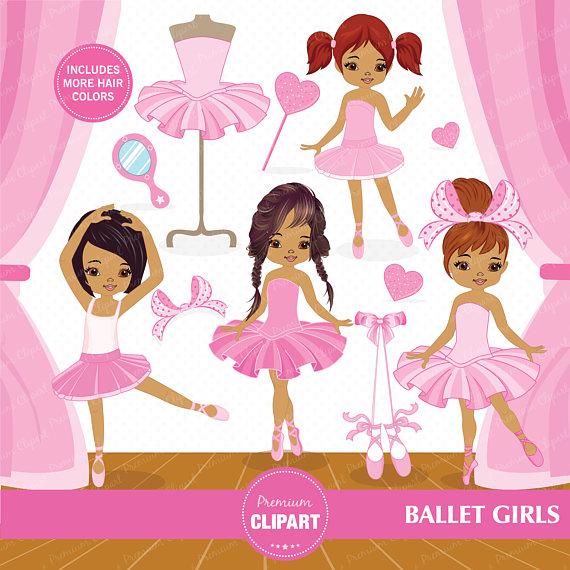 Ballerina clipart african american ballerina. Ballet for digital scrapbooks