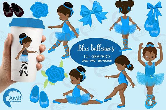 Ballerina clipart african american ballerina. Ballet blue ilxn