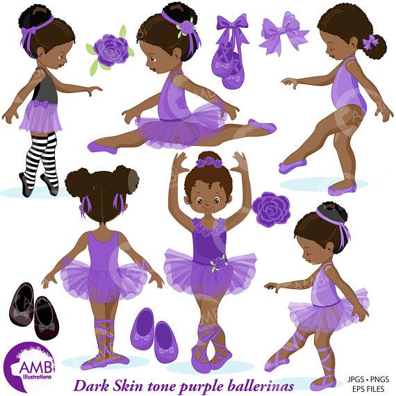Ballerina clipart african american ballerina. Ballet ilxn
