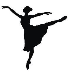 Ballerina clipart arabesque. Dancer silhouette free download