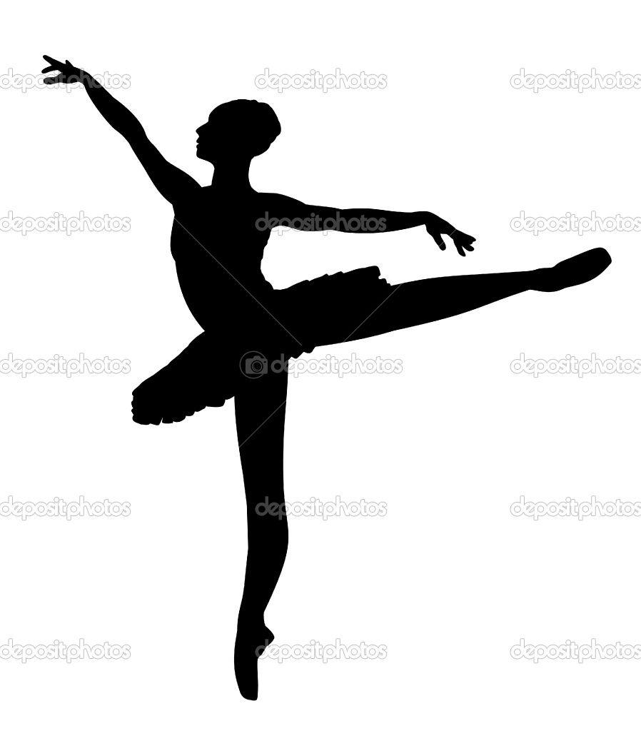 Ballet silhouettes google search. Ballerina clipart arabesque