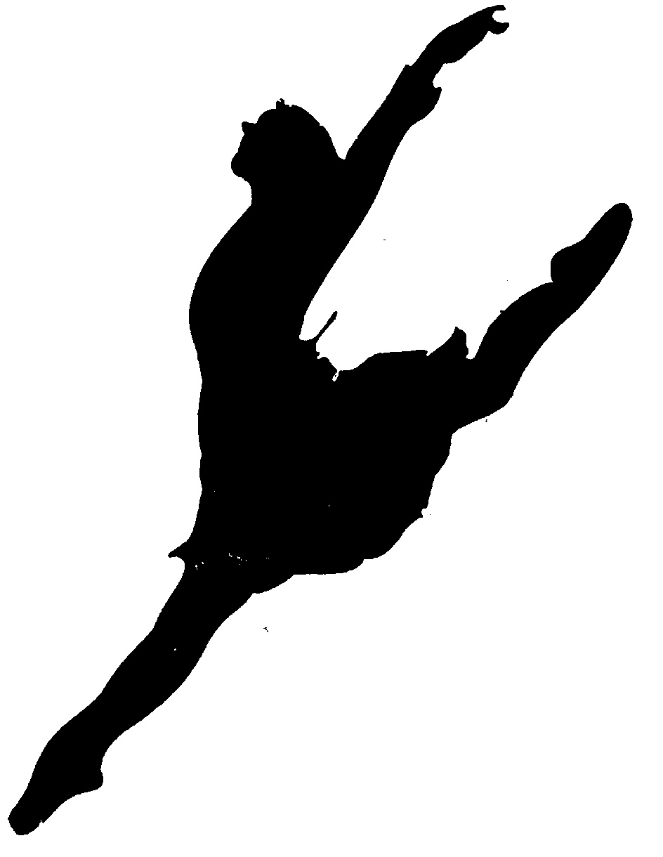 Silhouette arabesque panda free. Dancer clipart logo