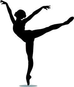 Dancer silhouette panda free. Ballerina clipart arabesque