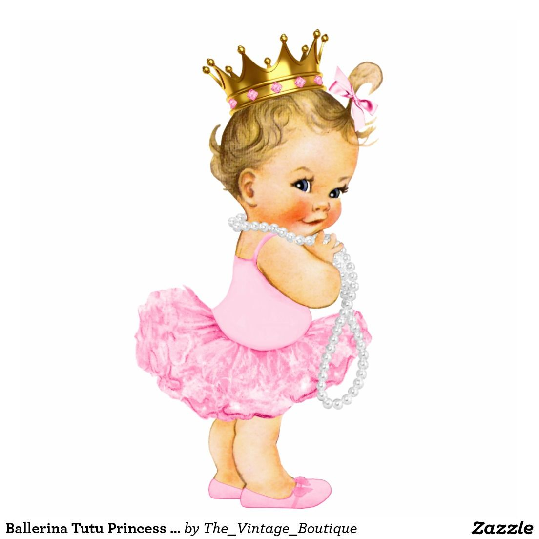 Tutu princess girl statuette. Ballerina clipart baby shower