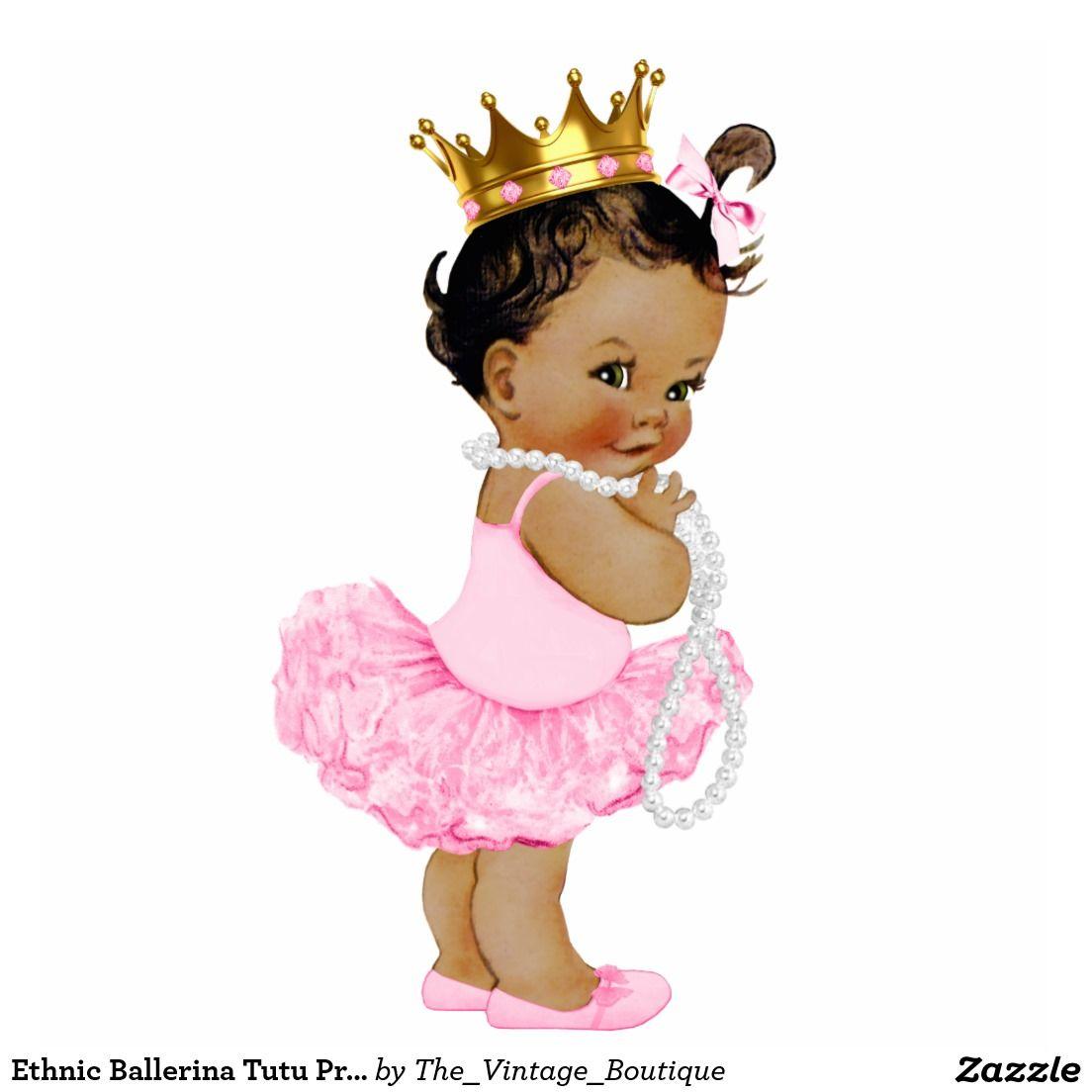 Ballerina clipart baby shower. Ethnic tutu princess girl