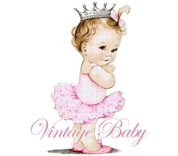 Ballerina clipart baby shower. Vintage birthday party pinterest