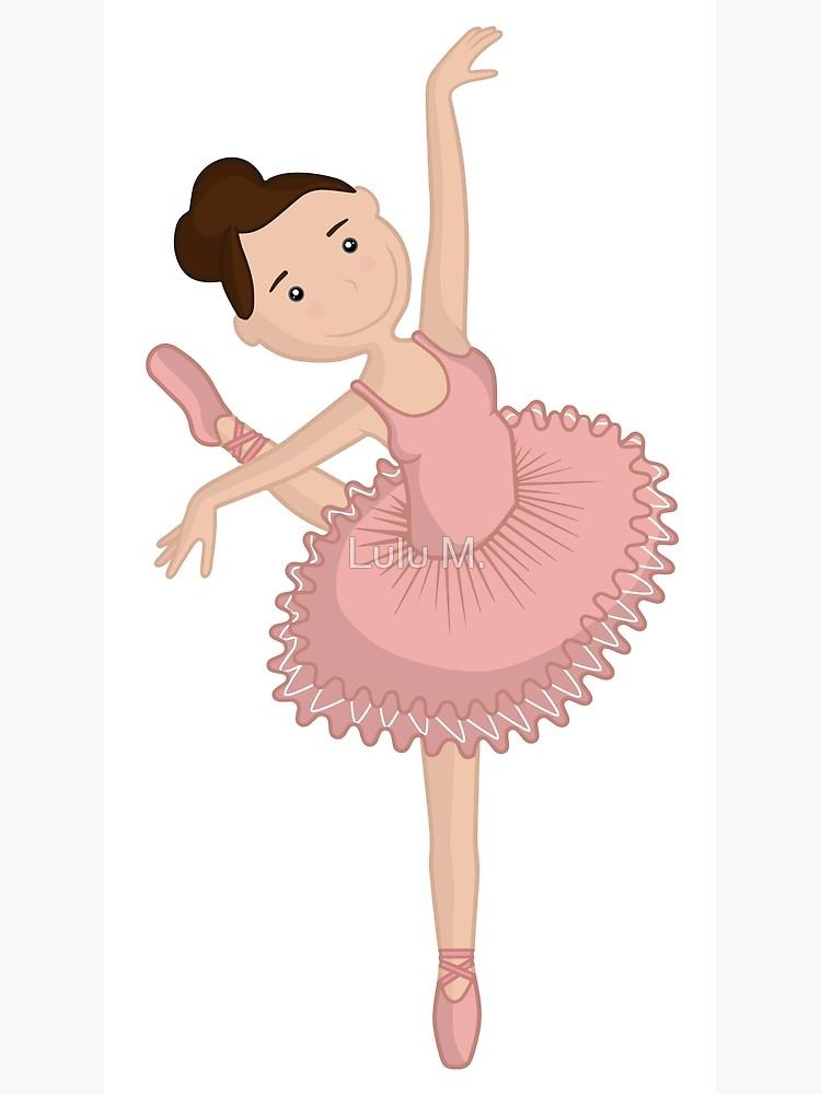 Ballerina in pink tutu. Clipart dance cute