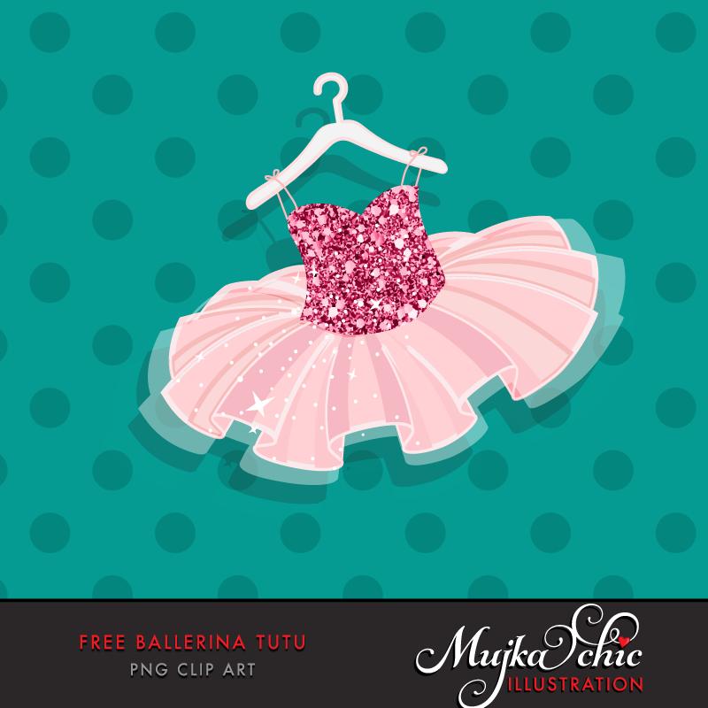 Free ballerina dress mujka. Tutu clipart file